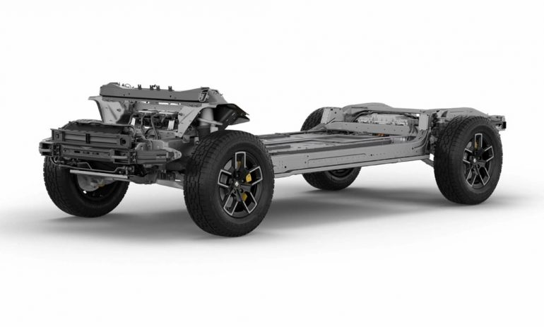 rivian r1t battery platform chassis