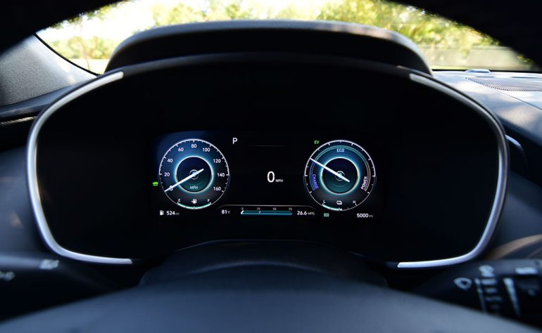 2021 hyundai santa fe hybrid limited digital gauge cluster