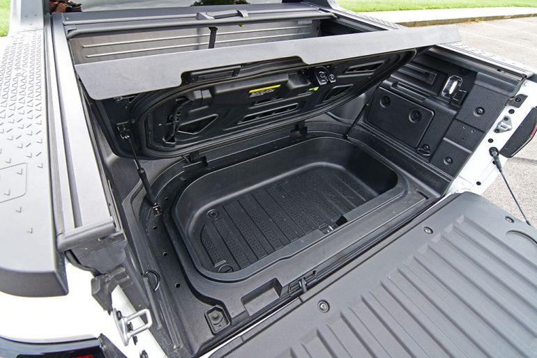 2022 hyundai santa cruz limited truck bed trunk storage