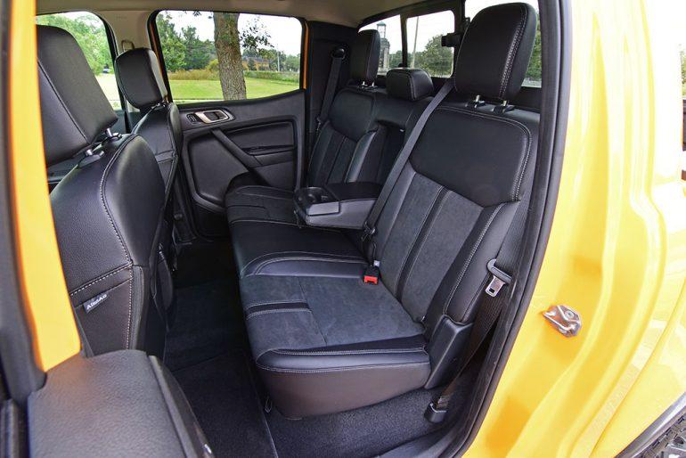 2021 ford ranger tremor rear seats